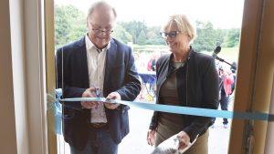 Theehuis op De Boskamp officieel geopend.